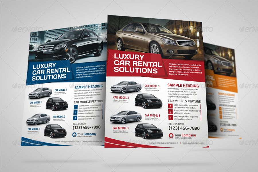 Automotive Car Sale Rental Flyer Ad v3 by JbnComilla – Car for Sale Flyer