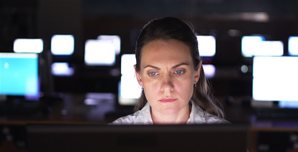Businesswoman by Computer