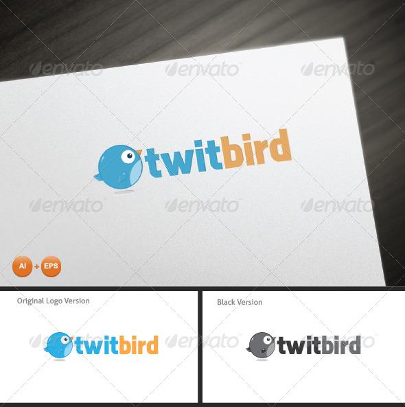 Twit Bird Mascot Logo