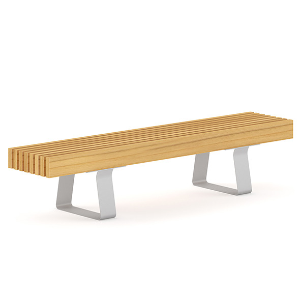 Wooden Bench 5 - 3DOcean Item for Sale
