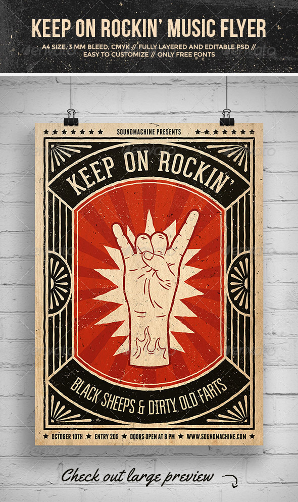 Keep On Rockin Music Flyer