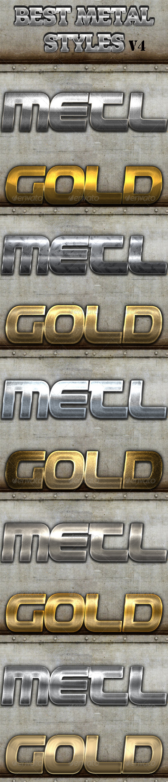 GraphicRiver Best Metal Styles V4 7384600
