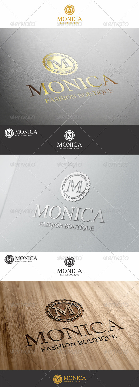M Letter Fashion Boutique Logo - Letters Logo Templates