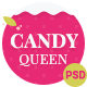 Candy Queen - Beautiful, Clean One Page Portfolio
