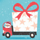Santa Bringing Gift - GraphicRiver Item for Sale