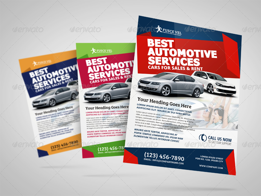 Automotive Car Sale Rental Flyer Ad Template Vol4 by JbnComilla – For Sale Ad Template