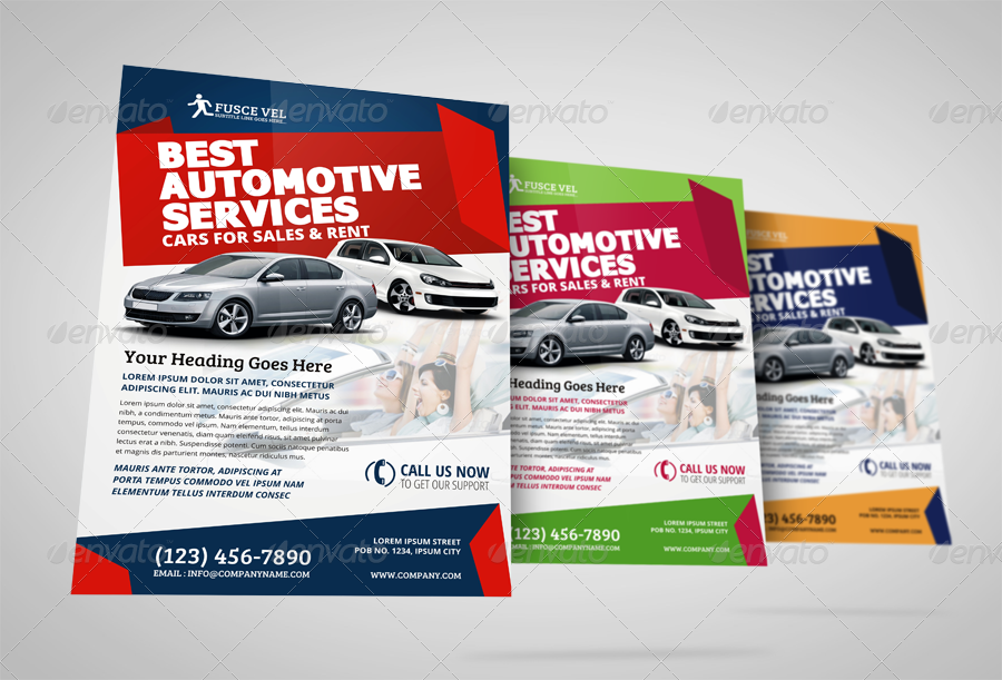 Automotive Car Sale Rental Flyer Ad Template Vol4 by JbnComilla – Car for Sale Flyer