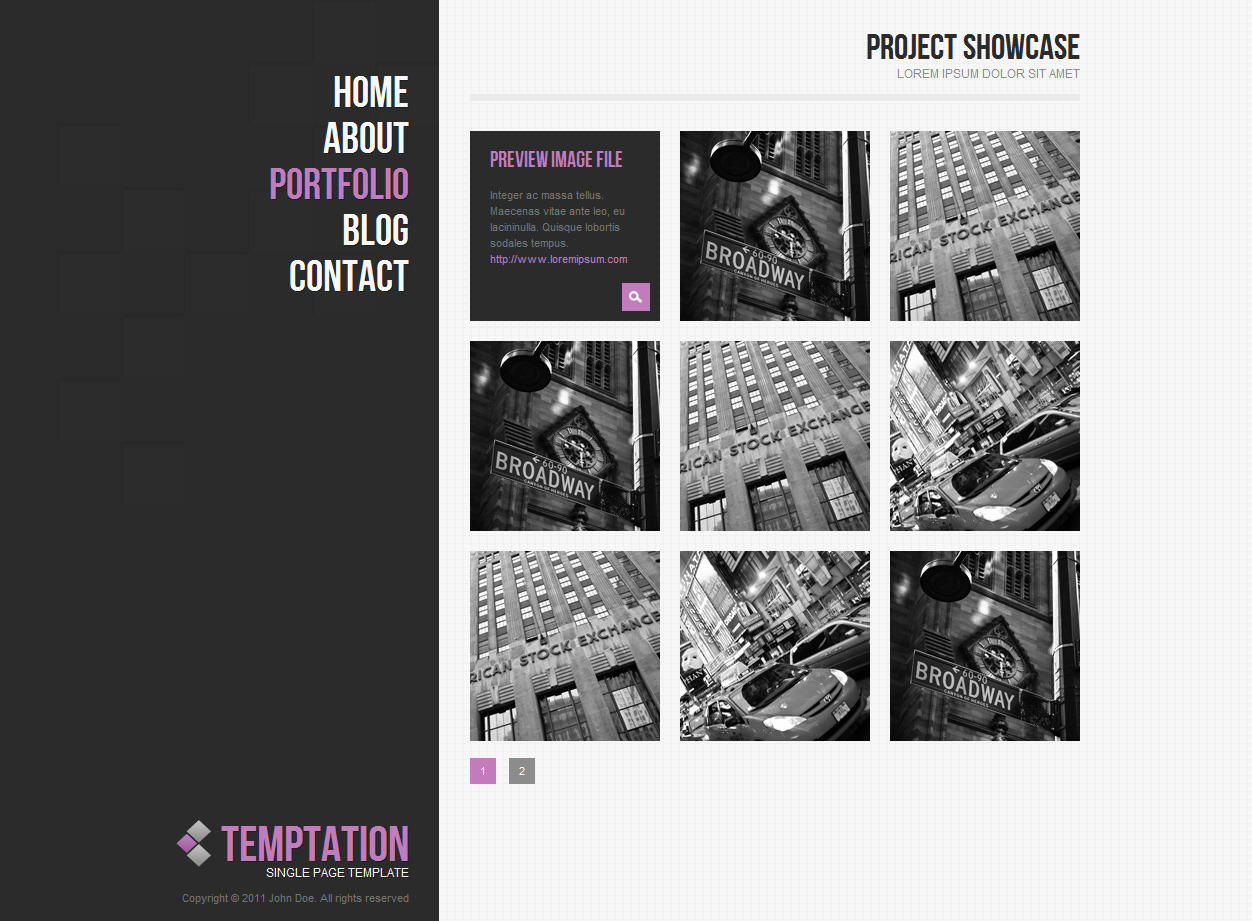 temptation a single page template by hedgehogcreative themeforest. Black Bedroom Furniture Sets. Home Design Ideas