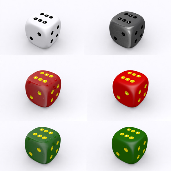 Dice 3D Model - 3DOcean Item for Sale