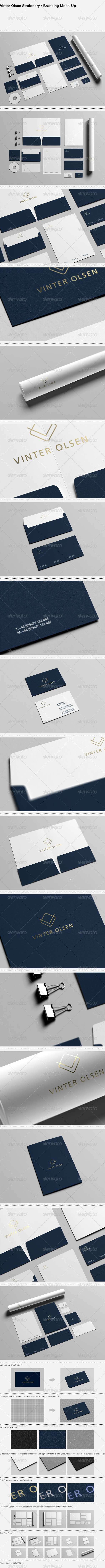 Stationery / Branding Mock-Up - Vinter Olsen - Stationery Print