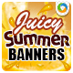 Summer Drinks Banners - GraphicRiver Item for Sale