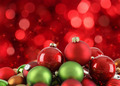 Christmas ornaments on abstract light background - PhotoDune Item for Sale