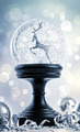 Snowglobe with ornaments against festive  background - PhotoDune Item for Sale