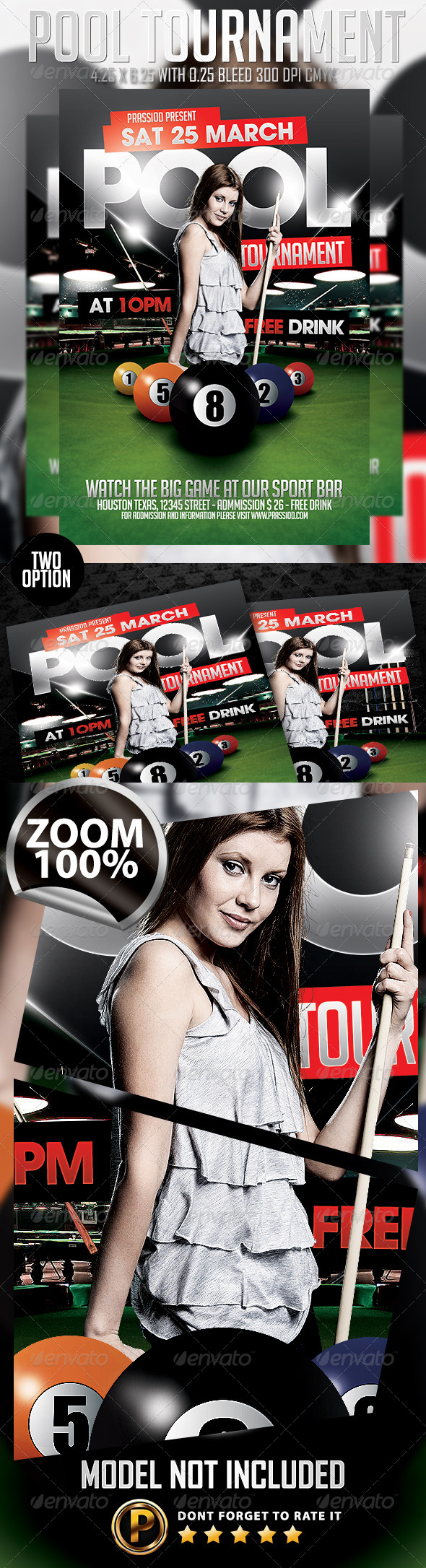 Pool Tournament Flyer Template - Events Flyers