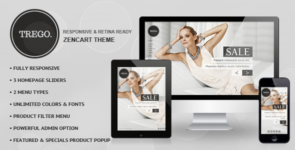 Trego - Premium Responsive Zencart Theme Download