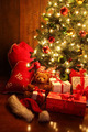 Brightly lit Christmas tree with gifts - PhotoDune Item for Sale