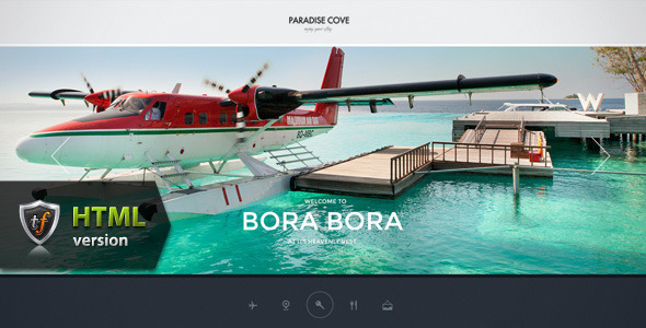 Paradise Cove - Hotel HTML Theme - Travel Retail