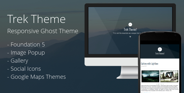 Trek: Responsive Ghost Theme - Ghost Themes Blogging