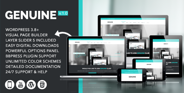 ThemeForest Genuine Creative Responsive WordPress Theme 7395873