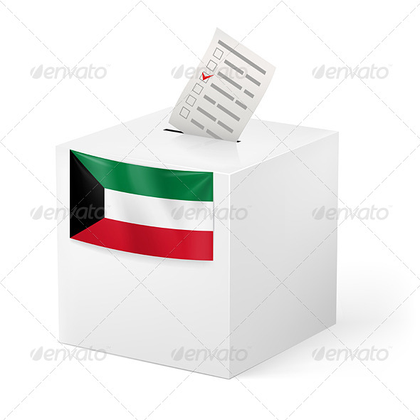 Ballot Box with Voting Paper Kuwait