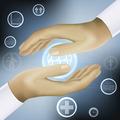 hands holding world medicine concept vector - PhotoDune Item for Sale