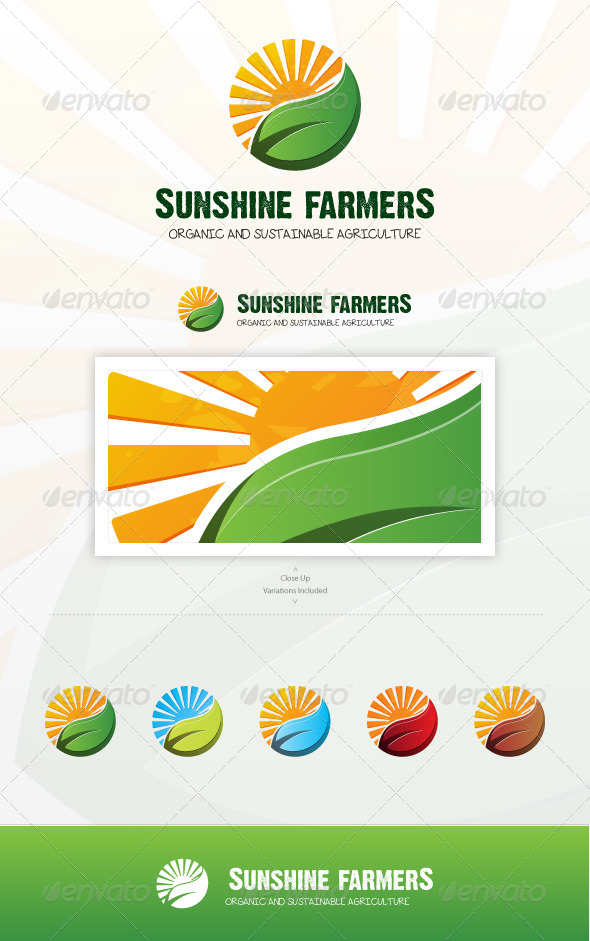 Sunshine Farmers - Nature Logo Templates