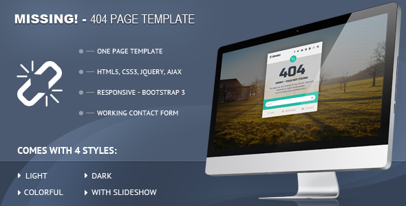 Missing - 404 Responsive Page Template