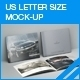 US Letter Size Brochure Mock-up - GraphicRiver Item for Sale