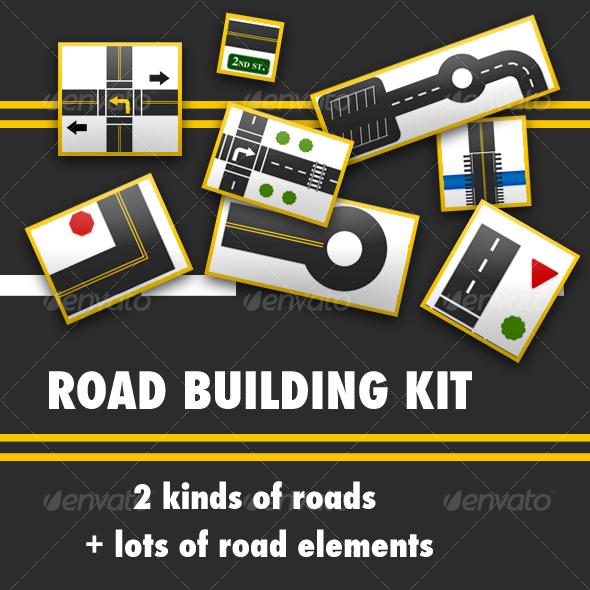 GraphicRiver Road Building Kit 31416