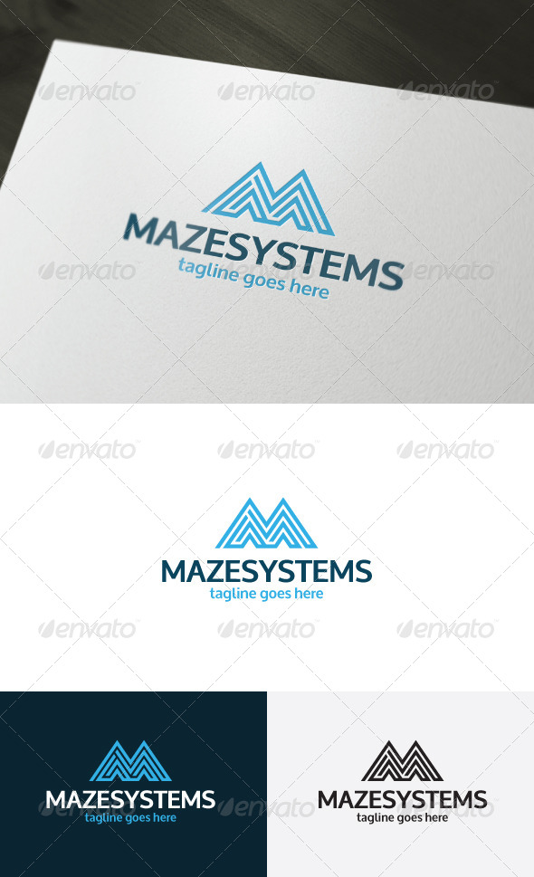 Maze Systems Logo Letter M