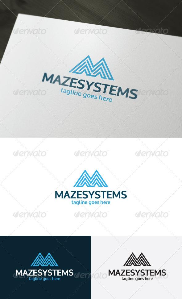 Maze Systems Logo Letter M