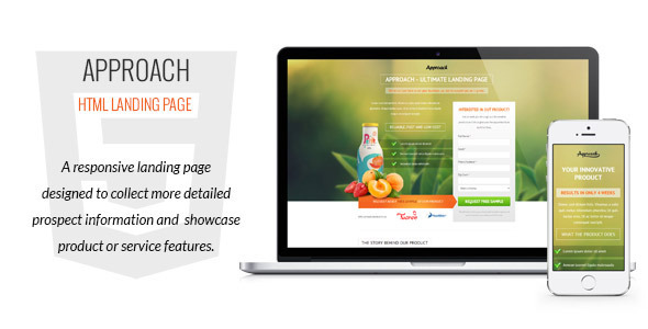 Approach - HTML Landing Page - Marketing
