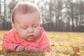 slleeping baby on the grass - PhotoDune Item for Sale