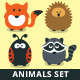 Vector Animals Collection - Forest and Meadow Set - GraphicRiver Item for Sale