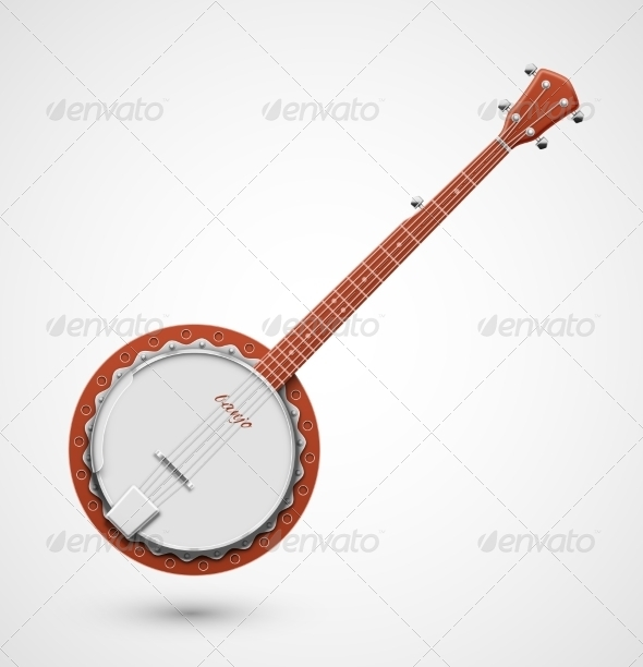 Isolated Banjo