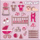 Set of Baby Girl Icons - GraphicRiver Item for Sale