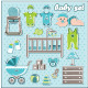 Set of Baby Boy Icons - GraphicRiver Item for Sale