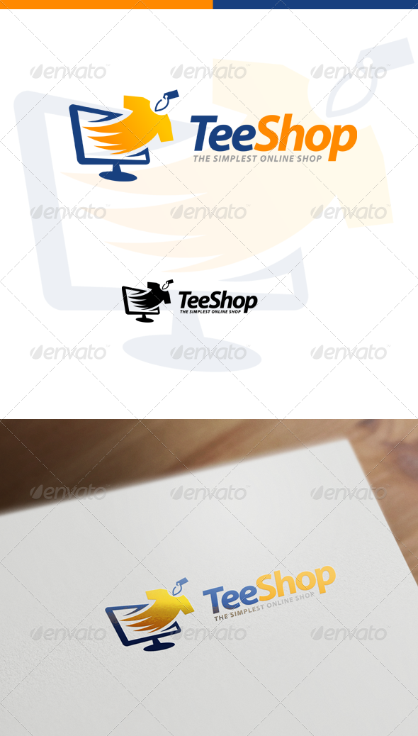TeeShop - Retail, Online Shop & Apparel Store Logo - Objects Logo Templates