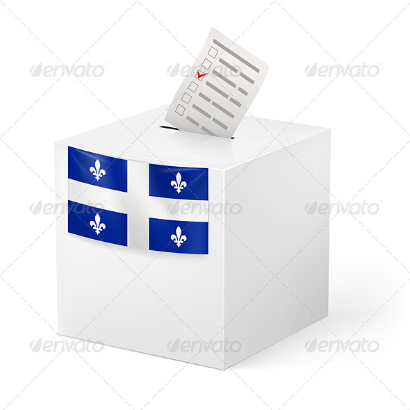 Ballot Box with Voting Paper Quebec