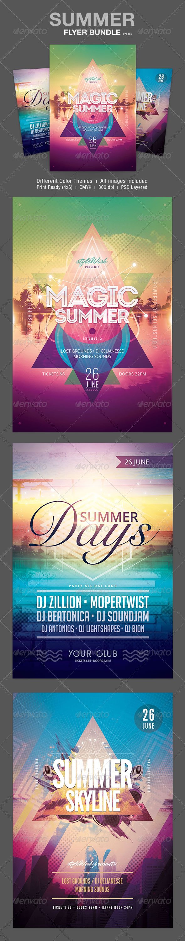 Summer Flyer Bundle Vol.03 - Clubs & Parties Events