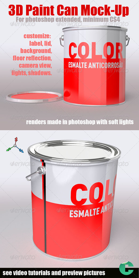 GraphicRiver 3D Object Paint Can 758989