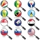 Flags of World Sovereign States Magnifying Glass - GraphicRiver Item for Sale