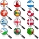 Flags of World Sovereign States Magnifying Glass