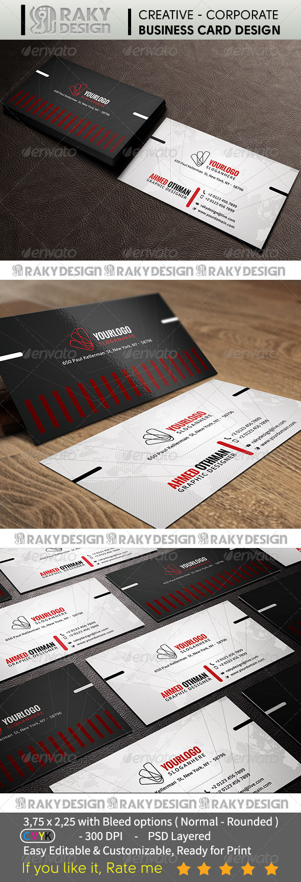 GraphicRiver Corporate Business Card V06 7407754