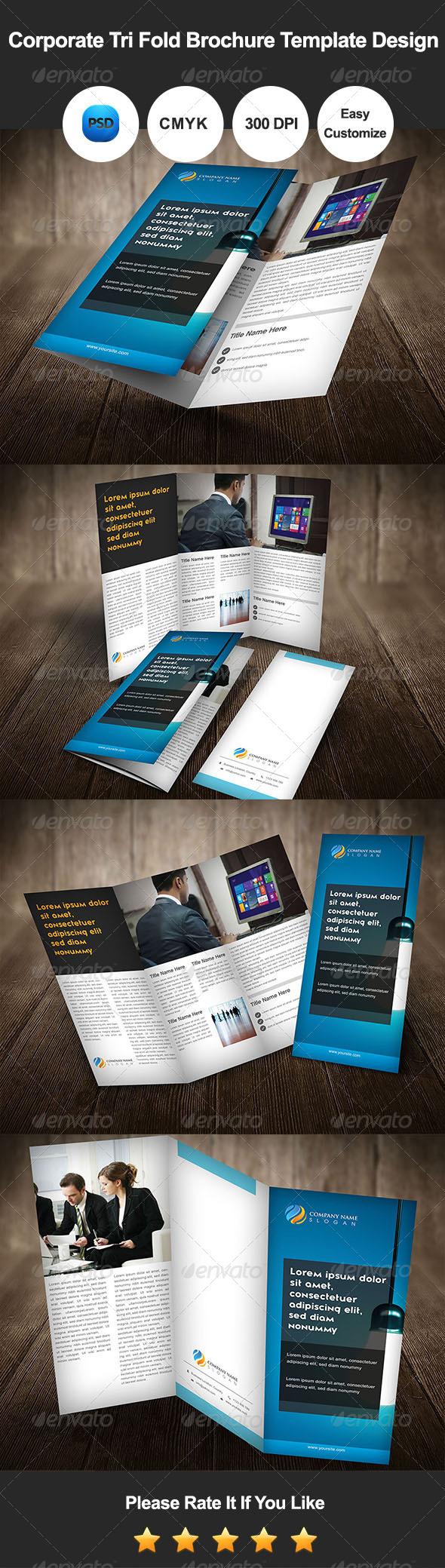 GraphicRiver Corporate Tri Fold Brochure Template Design 7408280