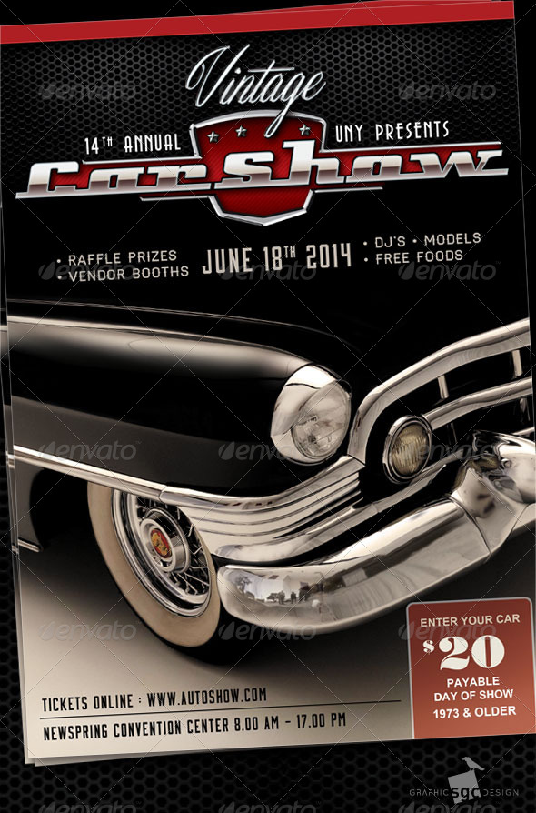 Motor Car Graphics Designs Templates From GraphicRiver Page - Blank car show flyer