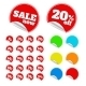 Set of Multicolor Stickers - GraphicRiver Item for Sale