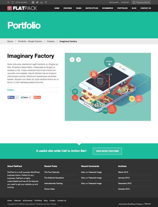 FlatPack - Multi-Purpose Business WordPress Theme
