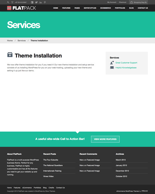 FlatPack - Multi-Purpose Business WordPress Theme