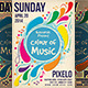 Colour of Music Flyer Template - GraphicRiver Item for Sale